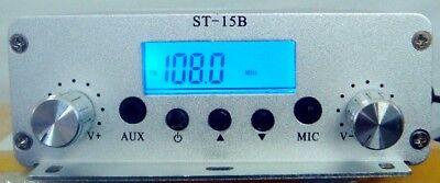 87-108mhz 1.5w15w St-15b Radio Broadcast Statio Stereo Pll Fm Transmitter