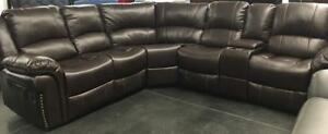 New Reclining Sectional.  Regular $2999 Now just $1900 taxes included.