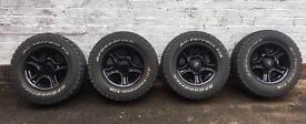 Suzuki wheels - gloss black with BF Goodrich tyres