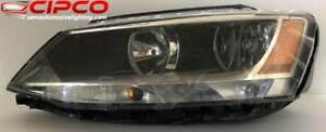 2011 to 2016 VW | Volkswagen Jetta Headlight, Headlamp Assembly Replacement | Halogen Type Used | Clean & Undamaged / Bo