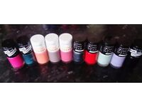 Brand new nail varnishes