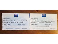 Crucible World Championship Snooker 2018 in Sheffield - 2 tickets