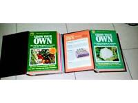 2 x FOLDERS OF GROW YOUR OWN FRUIT AND VEG. VINTAGE SUPERB CONDITION.