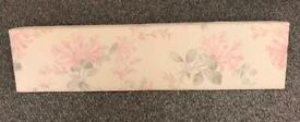 'LAURA ASHLEY' PINK/ GREY FLORAL WINDOW PELMET. 44.5'' X 11''. EXCELLENT CONDITION