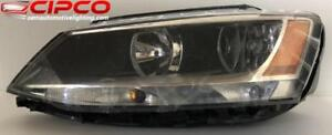 2011 to 2016 VW | Volkswagen Jetta Headlight, Headlamp Assembly Replacement | Halogen Type Used | Clean & Undamaged / Le