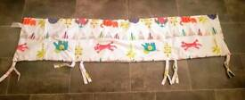 Must Go | House Clearance | Kiddicare Cot Bumper | Funky Friends | 35x155cm | Rotherham