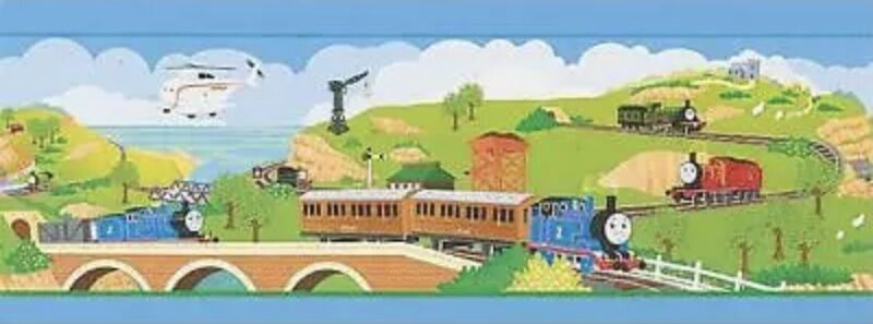 Thomas the Tank Engine & Friends Train Railroad Prepasted Wallpaper Border NEW