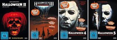 HALLOWEEN 2 + 3 + 4 + 5 - im Set! Michael Myers 4x DVD NEU + OVP!