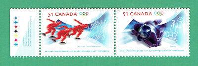 Canada (2006) Sc # 2143-2144 TORINO WINTER OLYMPICS se-tenant pair @ f.v