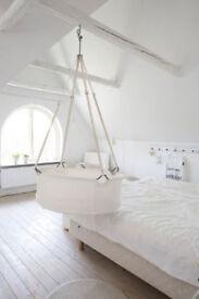 White Leander Moses basket / cradle / bassinet / baby bed
