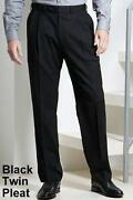 Mens Pleated Trousers