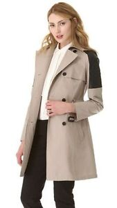 Mackage Lilith Trench Coat w/ leather sz XXS Retails for $668 Edmonton Edmonton Area image 2