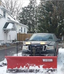 2008 Ford F-150 SuperCrew XLT with Western Snow Plow