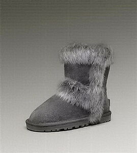 Boots 5281 UGG Fox Fur Short Kids Grey