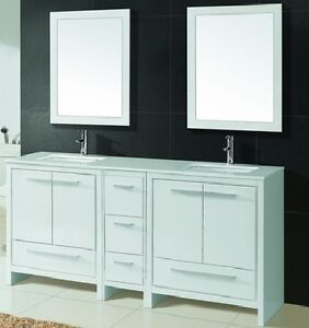 ⎷⎛Contemporary Bathroom Vanity & Cabinet Formosa FM72D/FM60D