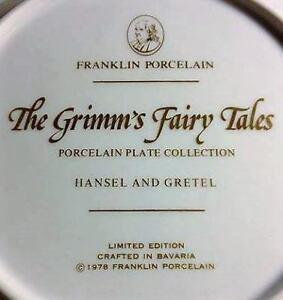 Assiettes De Collection Franklin Porcelain - Granby -