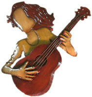 New - REDUCED PRICE - 3D Tin Guitarist (Wall Hanging)