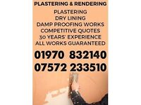 Plastering, Dry Lining and Damp Proofing Services