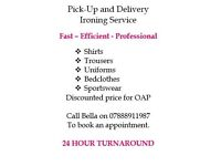 Ironing service, friendly efficient service, Collection or Drop-off service available