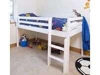 Mid sleeper bed (solid rubberwood) - new in original box GBP 150