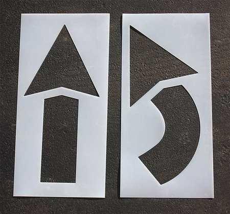 RAE STL-116-4042 Pavement Stencil,42 in,Arrow Kit,1/16