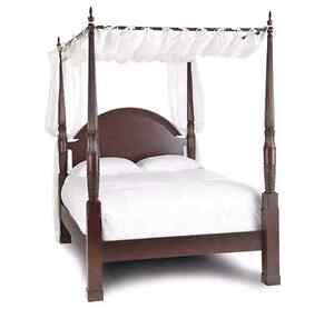 Queen size 4 post Canopy bed by Bombay $600 O.b.o