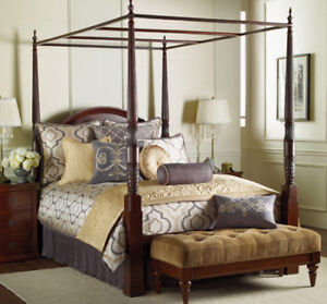 Herning Four Poster King Bed from Bombay Company