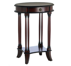 Two Oval Bombay Company End Tables