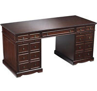 Bombay office desk, vitrine & lower file cabinets