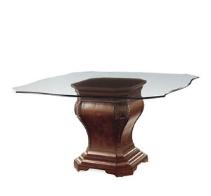 REGAL DINING TABLE – BASE AND GLASS TOP-1 YEAR OLD (PAID $2,400) London Ontario image 2