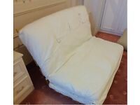 Ikea Futon Bed Guest Sofa Bed Folding Mattress Double Wooden Frame 2 Seater SofaBed