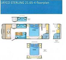 2012 Jayco Sterling Dual Axel Caravan with Full Annex. Dunlop Belconnen Area Preview