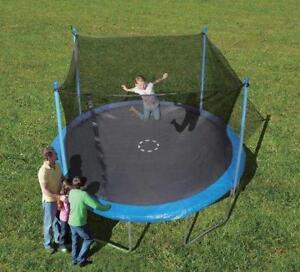 NEW Trainor Sports 12-feet Round Trampoline & Enclosure Combo | Heavy Duty Bouncy Outdoor