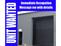 Warehouse / Industrial Unit / Workshop / Garage with Space up to 2500 sq ft