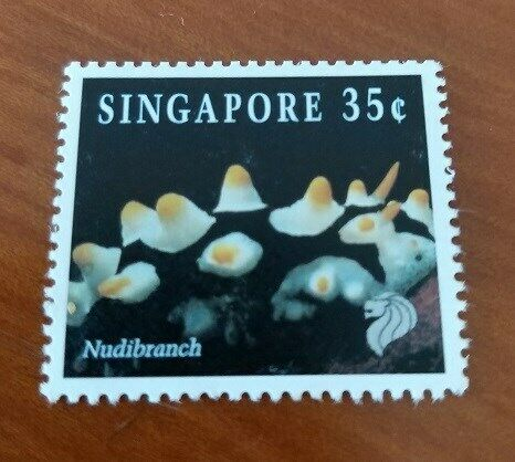 A Valid Singapore Postage Stamp of 35 Cents features Nudibranch - Uncirculated & Mint Stamp