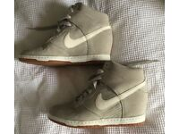 Nike Dunk Sky Hi Pale Grey Sail Wedge Trainers