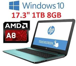 NEW HP AMD A8 17.3 TOUCH LAPTOP PC - 120804097 - AMD A8 1TBHDD 8GB MEMORY WINDOWS 10 COMPUTER NOTEBOOK PC