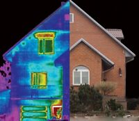 Inspection  maison  avec Caméra Infra rouge Thermographie
