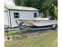 1983 Manatee Sabre 18' Boat & 1998 Boat Trailer - Florida