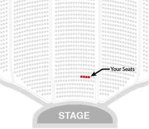 John Cleese and Eric Idle - 4 together, row 2 center, Fri show