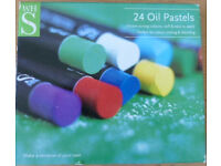 Oil Pastels - partly used pack of 24