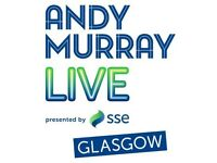 Andy Murray Live ticket for the Hydro FACE VALUE