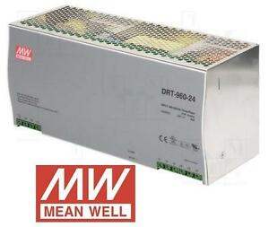 NEW MEAN WELL AC/DC POWER SUPPLY - 115673076 - Single-OUT 24V 40A 960W - DIN Rail Power Supplies
