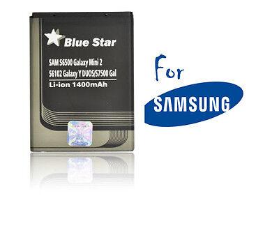 Batterie Li-ion Blue star pour GSM Samsung Galaxy Mini 2 S6500, 1400mAh