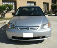 2002 HONDA CIVIC SEDAN 163K KMS, ONE OWNER, NO RUST!