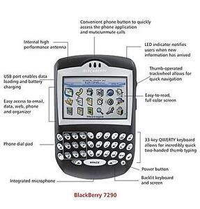 RIM Blackberry 7290 Black GSM PDA Cell Phone-FIDO