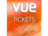 Two Vue Cinema Tickets