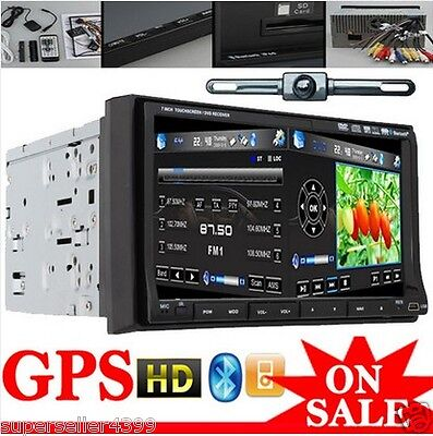 "GPS Navi with 7"" Motorized Car Stereo DVD CD Player PIP Ipod Bluetooth+Camera on Rummage"