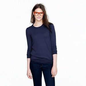 J CREW PULLOVER SWEATER IN NAVY-BRAND NEW!