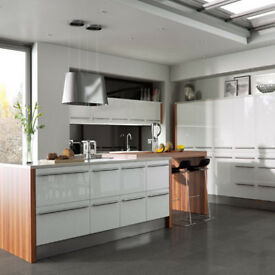 Odyssey White Gloss Kitchen Doors UK, Leeds